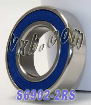 S6902RS Bearing 15x28x7 Stainless:Sealed:vxb:Ball Bearing