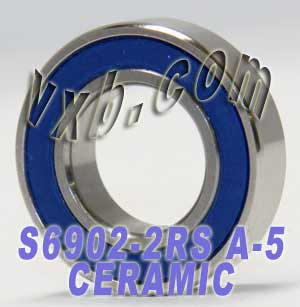 S6902-2RS Bearing 15x28x7 ZrO2 Ceramic:Stainless:Sealed:ABEC-5:vxb:Ball Bearing
