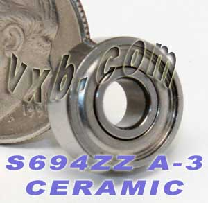 S694ZZ Bearing 4x11x4 Ceramic:Stainless:Shielded:ABEC-3:vxb:Ball Bearing