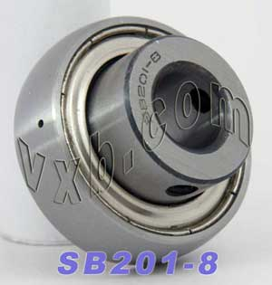 SB201-8 Ball Bearing Insert:vxb:Ball Bearing
