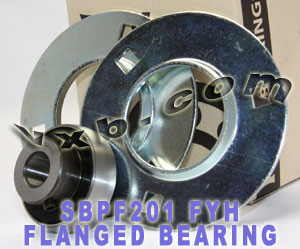 12mm Stamped steel plate round three-bolt flange type Bearing SBPF201:vxb:Ball Bearing