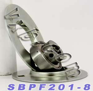 SBPF201-8 Pressed Steel Housing Unit:vxb:Ball Bearing