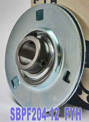 "3/4"" Stamped steel plate round three-bolt flange type Bearing SBPF204-12:vxb:Ball Bearing"