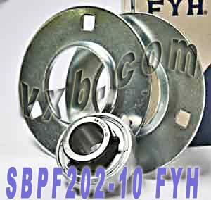 "5/8"" Stamped steel plate round three-bolt flange type Bearing SBPF202-10:vxb:Ball Bearing"