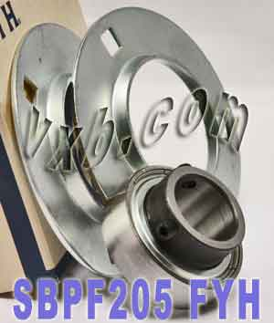 25mm Stamped steel plate round three-bolt flange type Bearing SBPF205:vxb:Ball Bearing