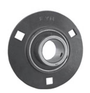 12mm Stamped steel plate round three-bolt flange type Bearing SAPF201:vxb:Ball Bearing