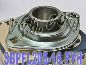"1"" Stamped steel plate oval two bolt Flanged Bearing SBPFL205-16:vxb:Ball Bearing"
