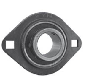 "1 7/16"" Stamped steel plate oval two bolt Flanged Bearing SAPFL207-23:vxb:Ball Bearing"