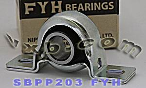 17mm Steel plate pillow Bearing SBPP203:vxb:Ball Bearing