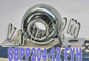 "3/4"" Steel plate pillow Bearing SBPP204-12:vxb:Ball Bearing"