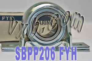 30mm Steel plate pillow Bearing SBPP206:vxb:Ball Bearing