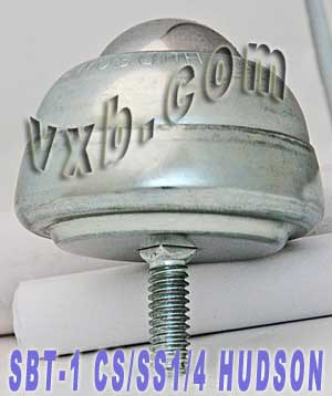 "SBT-1 CS/SS 1/4"" Stud Mounted Ball Transfer Unit 1"" Main Ball:vxb:Ball Bearing"