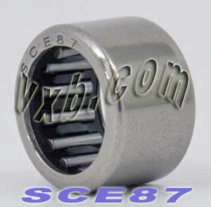 "SCE87 Needle Bearing 1/2""x11/16""x7/16"" BA87ZOH:vxb:Ball Bearing"