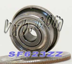 Flanged Bearing 3x10x4 Shielded:vxb:Ball Bearing
