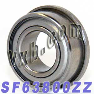 Flanged Bearing 10x19x7 Shielded:vxb:Ball Bearing
