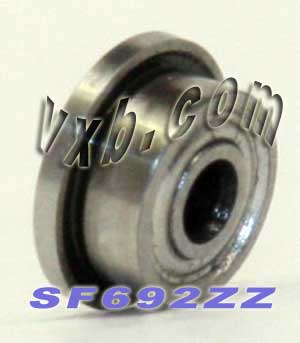 Flanged Bearing 2x6x3 Shielded:vxb:Ball Bearing