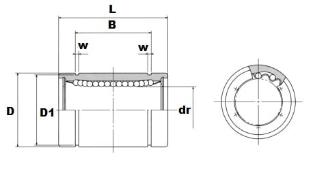 SM3 3mm Miniature Slide Bush:Nippon Bearing Linear Systems