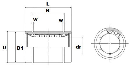 SM30 30mm Slide Bush:Nippon Bearing Linear Systems