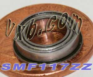 Flanged Bearing 7x11x3 Shielded:vxb:Ball Bearing