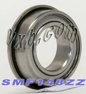 SMF148ZZ Flanged Stainless Bearing 8x14x4:Shielded:vxb:Ball Bearing