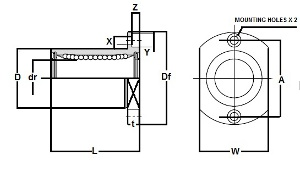 SMST10WUU NB 10mm Two Side Cut Double Wide  Flange Slide Bush:Nippon Bearing Linear Systems