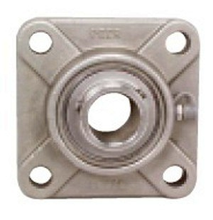 "SSUCF-207-23 Stainless Steel Flange Units 4 Bolt:1 7/16"" inner diameter:Ball Bearing"