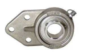 "SSUCFB207-22 Stainless Steel Flange Bracket 3 Bolt:1 3/8"" inner diameter:PEER:Ball Bearing"