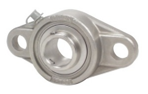 "SSUCFT205-16 Stainless Steel Flange Unit 2 Bolt:1"" inner diameter::Ball Bearing"