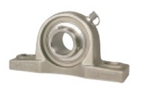 "SSUCP-206-19 Stainless Steel Pillow Block Unit:1 3/16"" inner diameter:Ball Bearing"