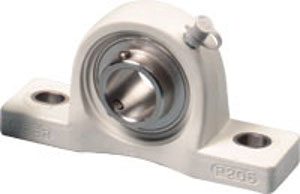 "SUCP206-19-PBT Thermoplastic Stainless Steel Pillow Block:1 3/16"" inner diameter:PEER:Ball Bearing"