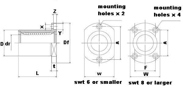 "SWT6UU 3/8"" inch Ball Bushing"