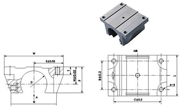 30mm Linear Bearing with Block Slide unit Open:vxb:Ball Bearings