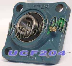 20mm Mounted Bearing UCF204 + Square Flanged Cast Housing:vxb:Ball Bearing