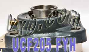25mm Square Flanged Mounted Bearing UCF205:vxb:Ball Bearing