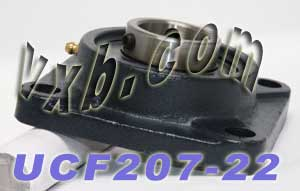 "1 3/8"" Square Flanged Mounted Bearing UCF207-22:vxb:Ball Bearing"