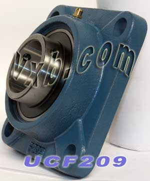 45mm Mounted Bearing UCF209 + Square Flanged Cast Housing:vxb:Ball Bearing