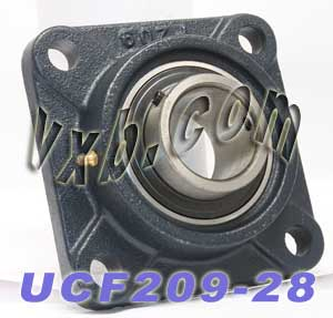 "UCF-209-28 Four Bolt Flange Unit 1 3/4"" Inner Diameter:vxb:Ball Bearing"