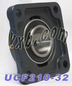 "UCF210-32 Four Bolt Flange Unit 2"" Inner Diameter:vxb:Ball Bearing"