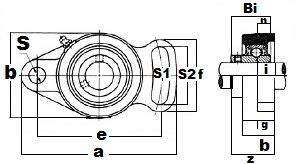 40mm Flange Cartridge Unit UCFA208:vxb:Ball Bearing
