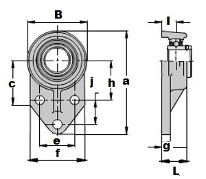 UCFB208 Three bolt Flanged Mounted Bearing:vxb:Ball Bearing