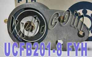 "1/2"" Three bolt Flanged Bearing UCFB201-8:vxb:Ball Bearing"