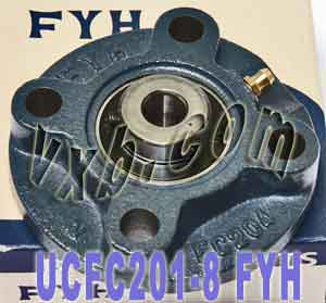 "1/2"" Round flanged Mounted Bearing UCFC201-8:vxb:Ball Bearing"