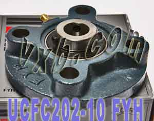 "5/8"" Round flanged Mounted Bearing UCFC202-10:vxb:Ball Bearing"