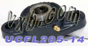 "7/8"" Mounted Bearing UCFL-205-14 + 2 Bolts Flanged Cast Housing:vxb:Ball Bearing"