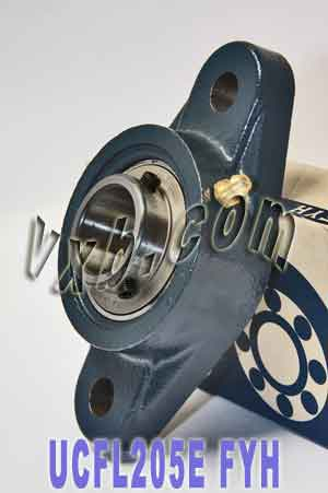 25mm Flanged Mounted Bearing UCFL205E + Pillow Block Cast Housing:vxb:Ball Bearing
