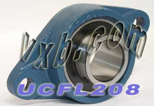 40mm Mounted Bearing UCFL208 + 2 Bolts Flanged Cast Housing:vxb:Ball Bearing