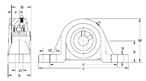 "UCLP206-19 Pillow Block Medium Duty:1 3/16"" inner diameter: Ball Bearing"