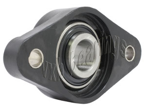 1 Inch Thermoplastic Mounted Bearing UCNFL205-14+ 2 Bolts Flanged Cast Housing:vxb:Ball Bearing