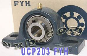 17mm Mounted Bearing UCP203 + Pillow Block Cast Housing:vxb:Ball Bearing