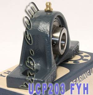 17mm Mounted Bearing UCP203 + Pillow Block Cast Housing:vxb:Ball Bearings